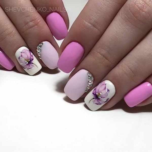 Модный маникюр в розовом цвете – новинки розового маникюра 2020-2021 года
