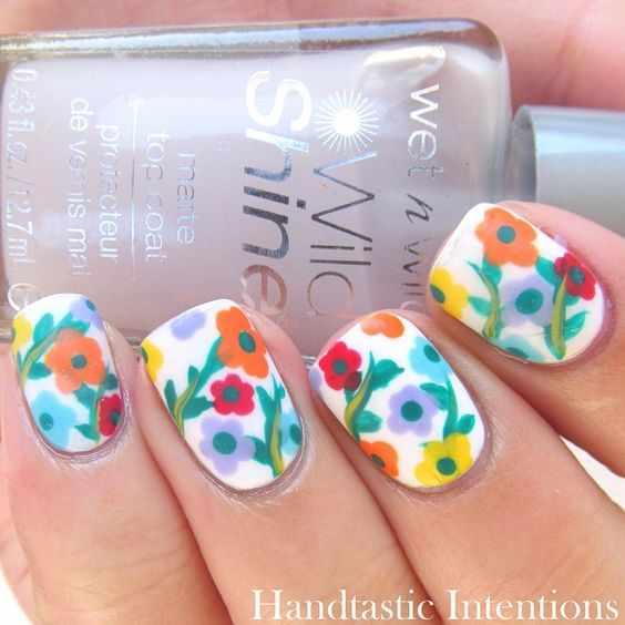 design nails flovers весенний маникюр с цветами