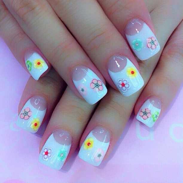 дизайн ногтей с фимо лунный дизайн nail design Fruit