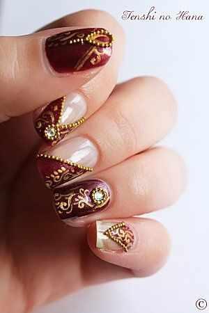 indian design nail индийский маникюр