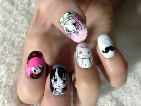 design nail anime анимешный дизайн ногтей няши