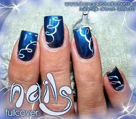 nail design airbrush дизайн ногтей аэрография гирлянда