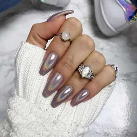 nails design holographic powder pigment