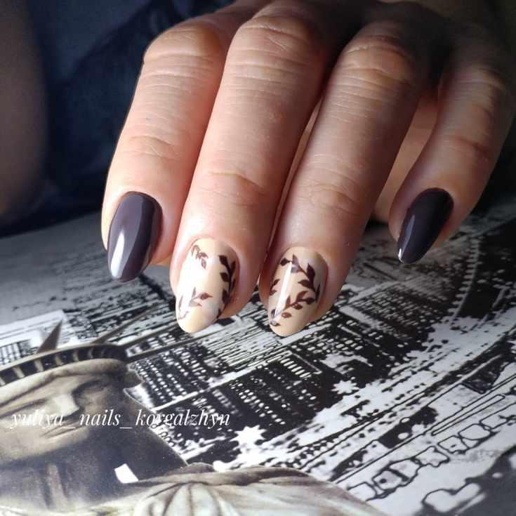 27 фото новинок осеннего дизайна ногтей оранжевый листопад