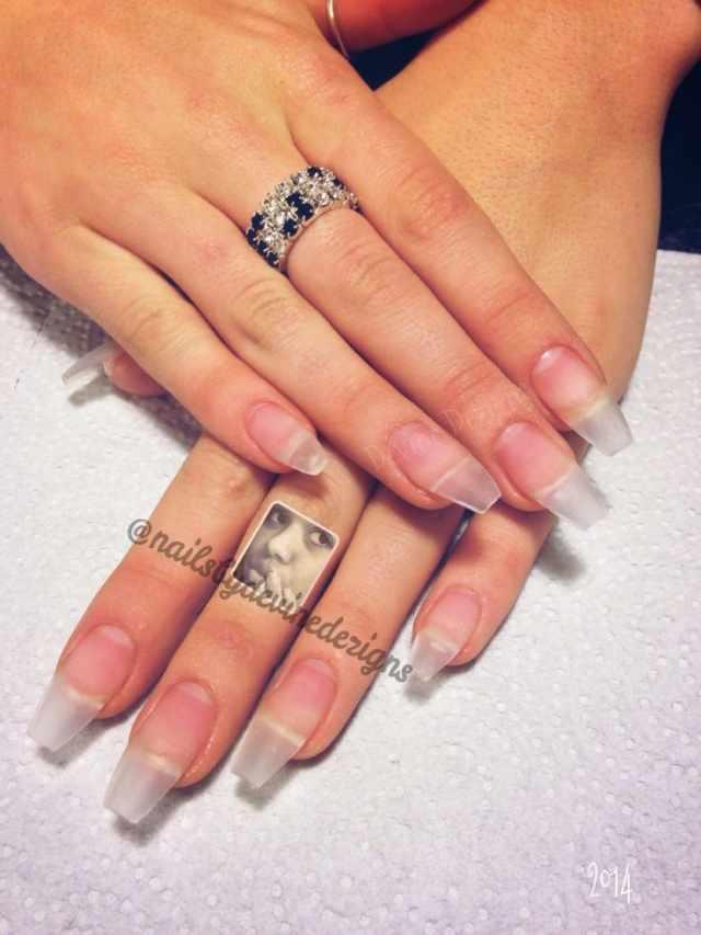 transparent nail design прозрачный маникюр телесного цвета manicure with transparent tips