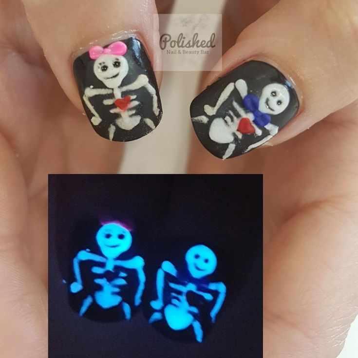 ногти светящиеся в темноте