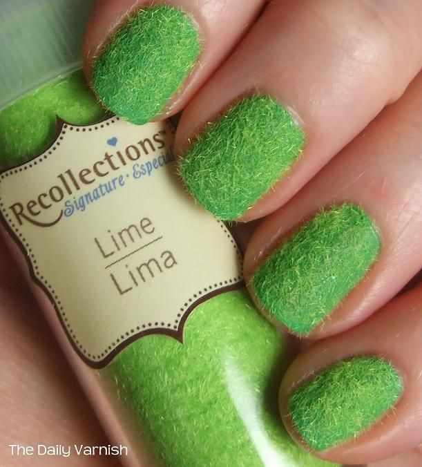 дизайн бархатных ногтей зелёный ворс velvet nail design