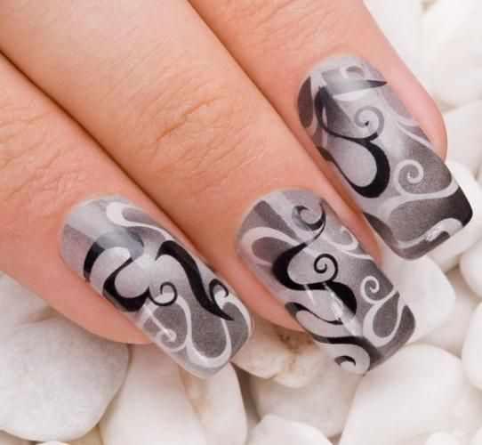 nail design airbrush дизайн ногтей аэрография линии