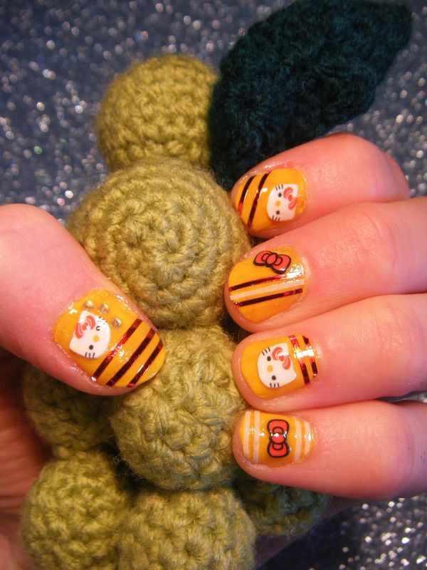 дизайн ногтей с фимо кошка nail design Fruit
