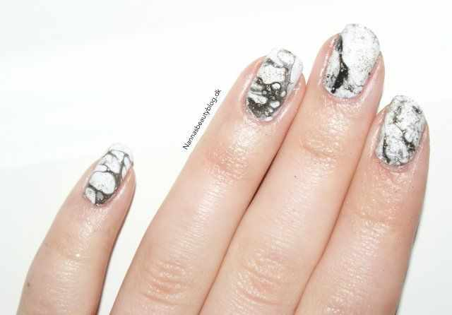 мраморный дизайн ногтей