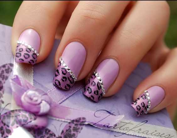 дизайн ногтей сирень фото