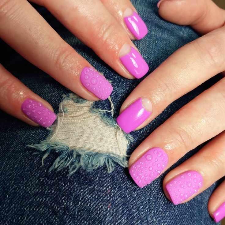 Дизайн ногтей капли росы | Фото + видео