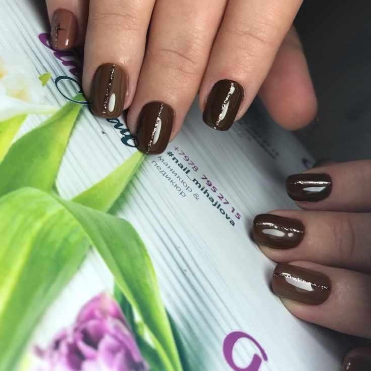 41 фото идеи коричневого маникюра (шоколадный цвет)