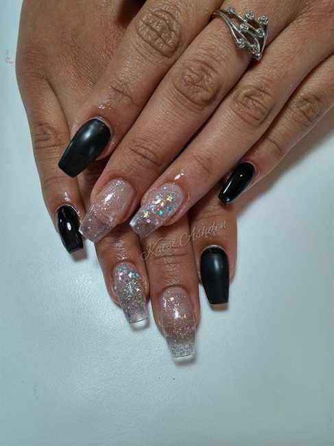 transparent nail design прозрачный маникюр типсы балетки manicure with transparent tips