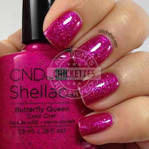 CND schellac дизайн butterfly queen