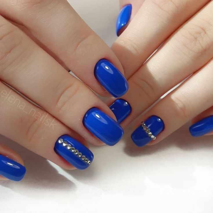90 фото дизайн ногтей синего цвета 2018