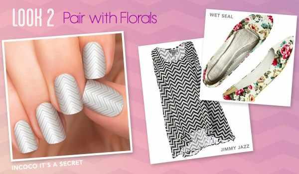 nail art with a geometric pattern 2017