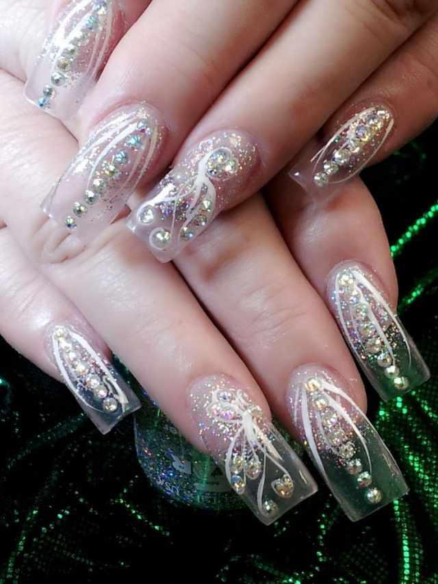 transparent nail design прозрачный маникюр manicure with transparent tips