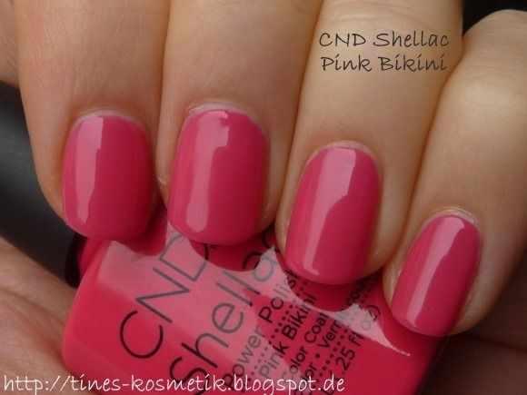 CND schellac дизайн pink bikini