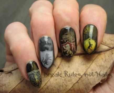 маникюр игра престолов nails game of thrones
