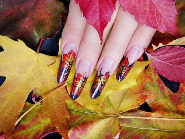 модный дизайн ногтей от чемпионов осенний маникюр 2015 design of extension of long nails