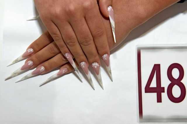 модный дизайн ногтей от чемпионов 48 design of extension of long nails