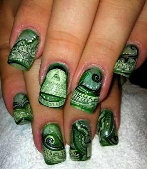 изумрудный маникюр design nails emerald panton 17-5641