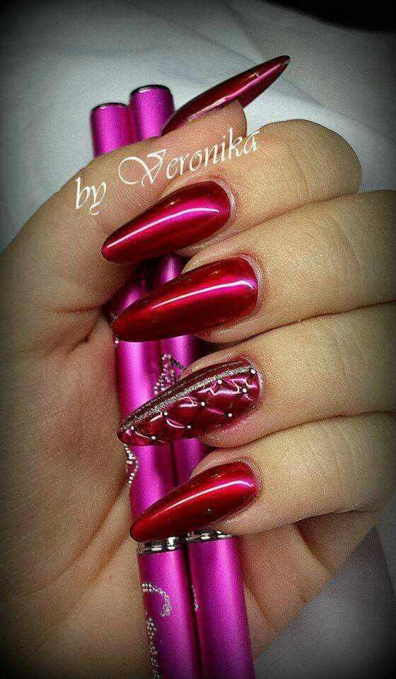 модный дизайн ногтей от чемпионов стёганный design of extension of long nails