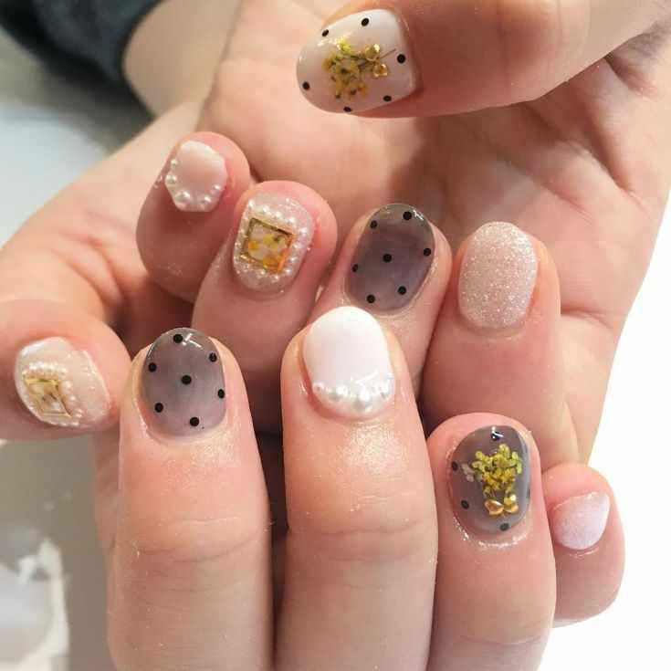 дизайн коротких ногтей гель лаком