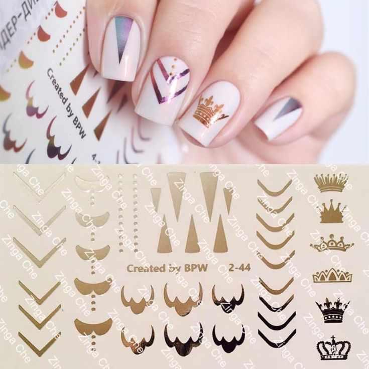 дизайн ногтей со слайдерами