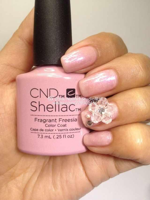 CND schellac дизайн fragrant freessia