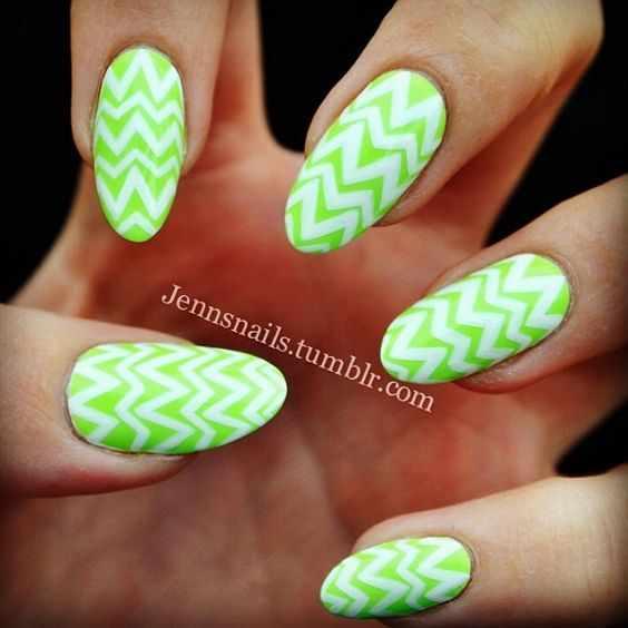 маникюр салатового цвета nails grass is lime greener