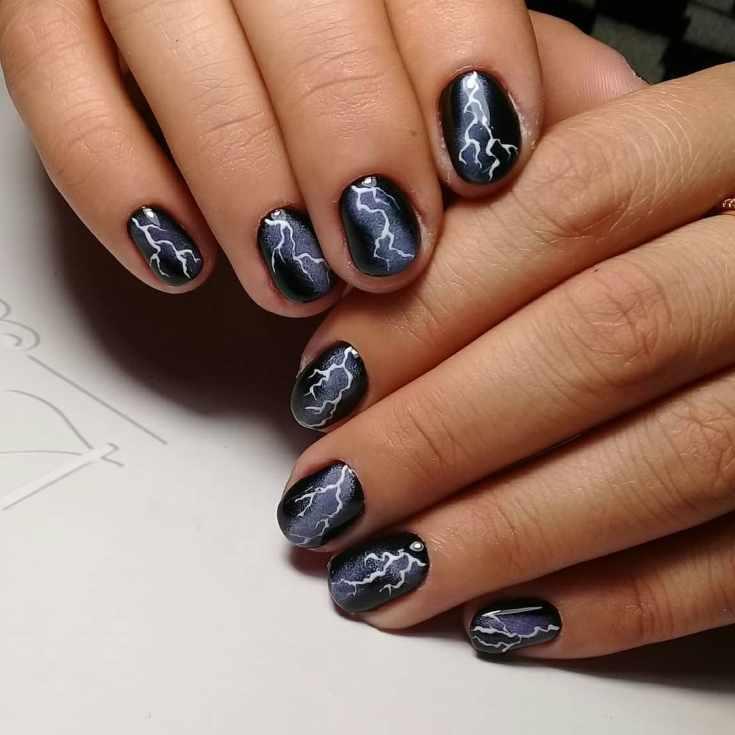 Дизайн ногтей молния 35 фото