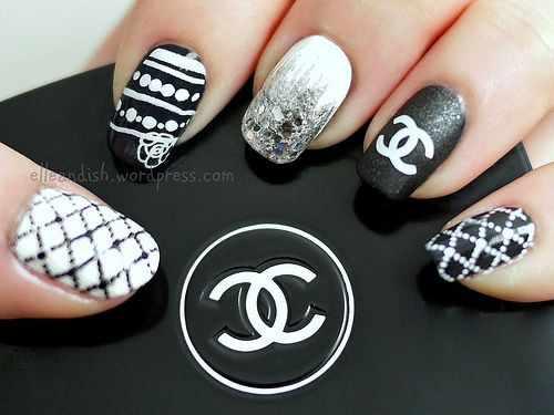 дизайн ногтей шанель коко
