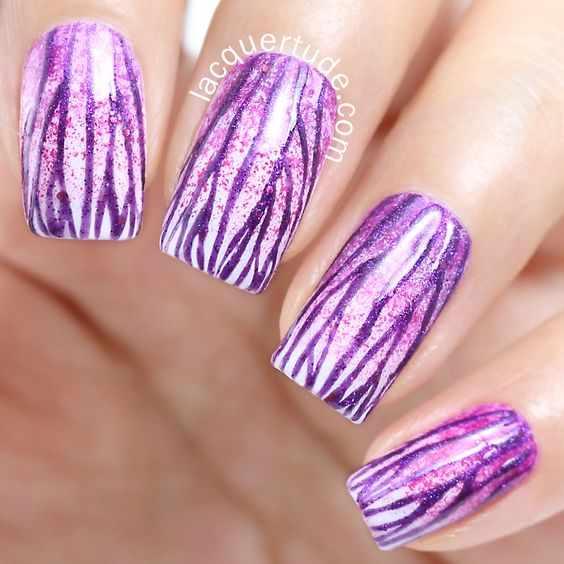 маникюр лилового цвета