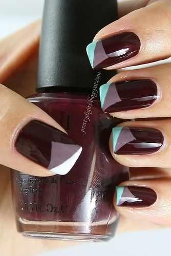 дизайн ногтей цвета бордо
