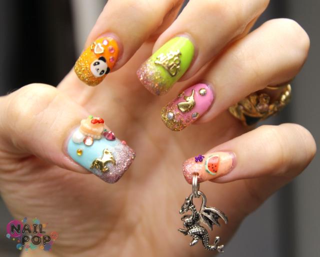 Nail piercing photo пирсинг ногтей дракон nail design piercings