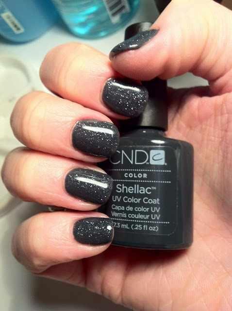 CND schellac дизайн цвет глины