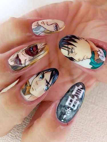 design nail anime анимешный дизайн ногтей милашки