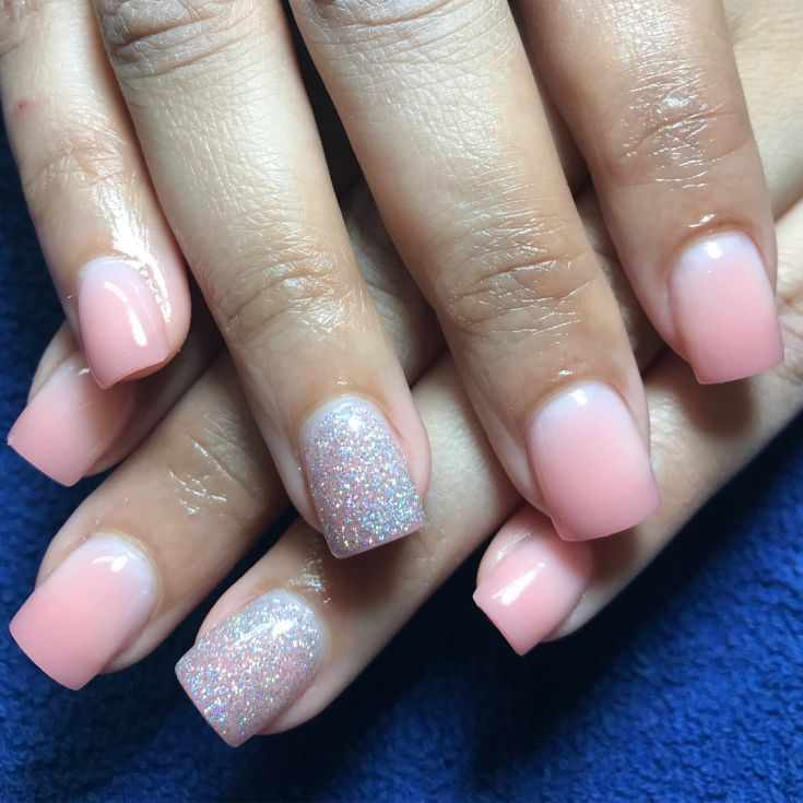 дизайн коротких квадратных ногтей