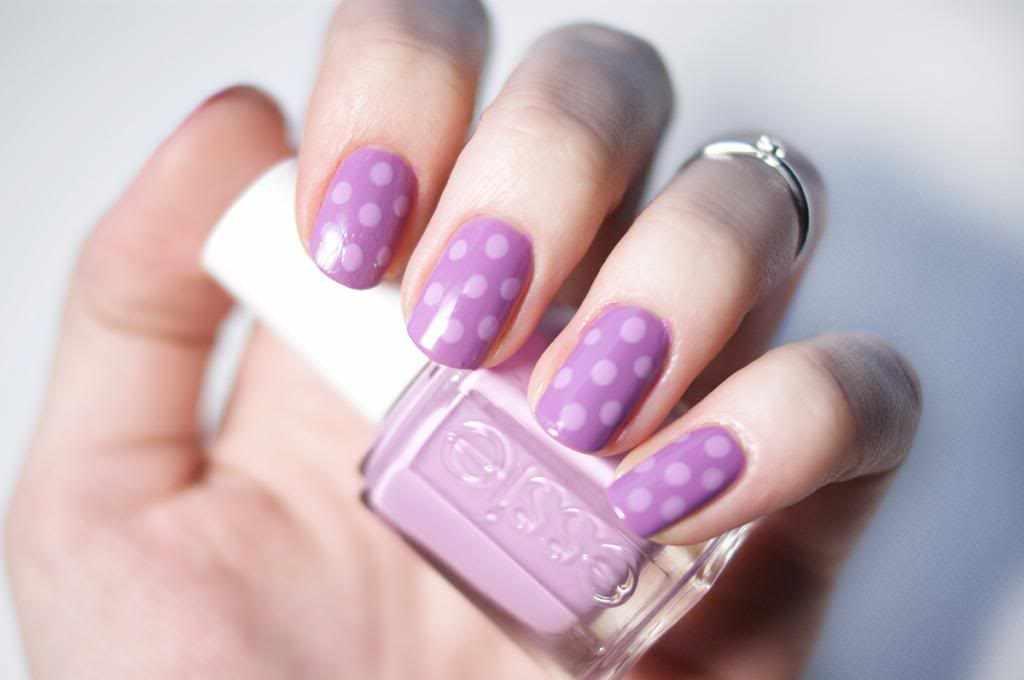 маникюр лиловый цвет