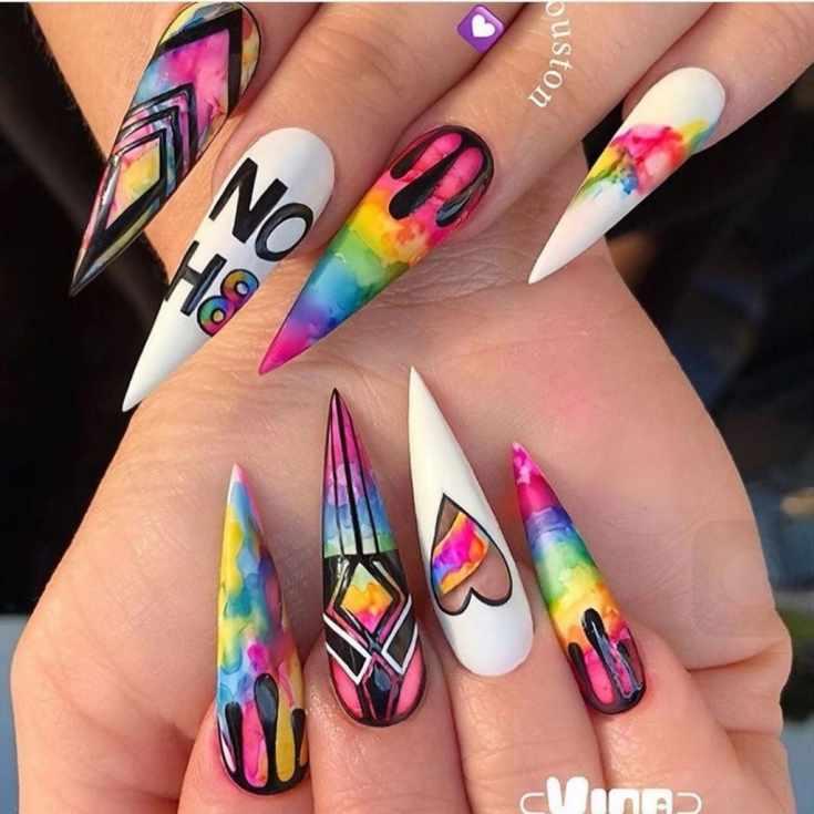 35 фото арт дизайн ногтей с креативным рисунком