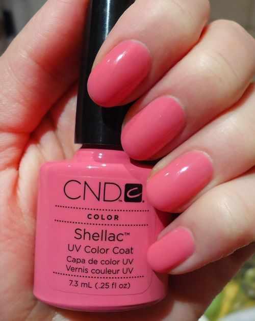 CND schellac дизайн розовый