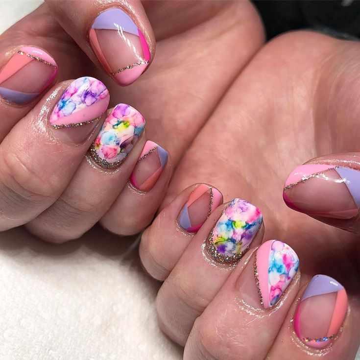 дизайн ногтей шеллак на короткие ногти