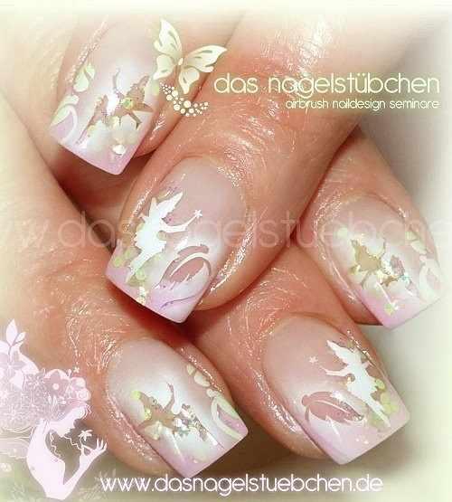 nail design airbrush дизайн ногтей аэрография фея