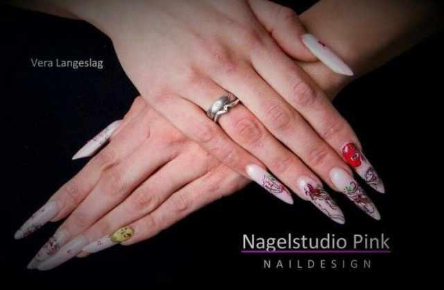 модный дизайн ногтей от чемпионов китайская стилистика design of extension of long nails