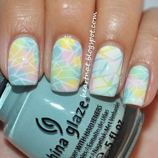 nail design airbrush дизайн ногтей аэрография разноцветная абстракция