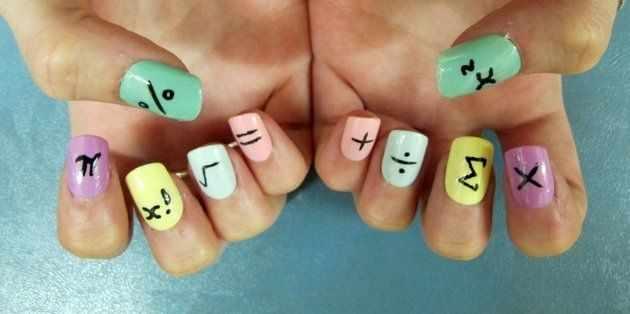 школьный дизайн ногтей формулы