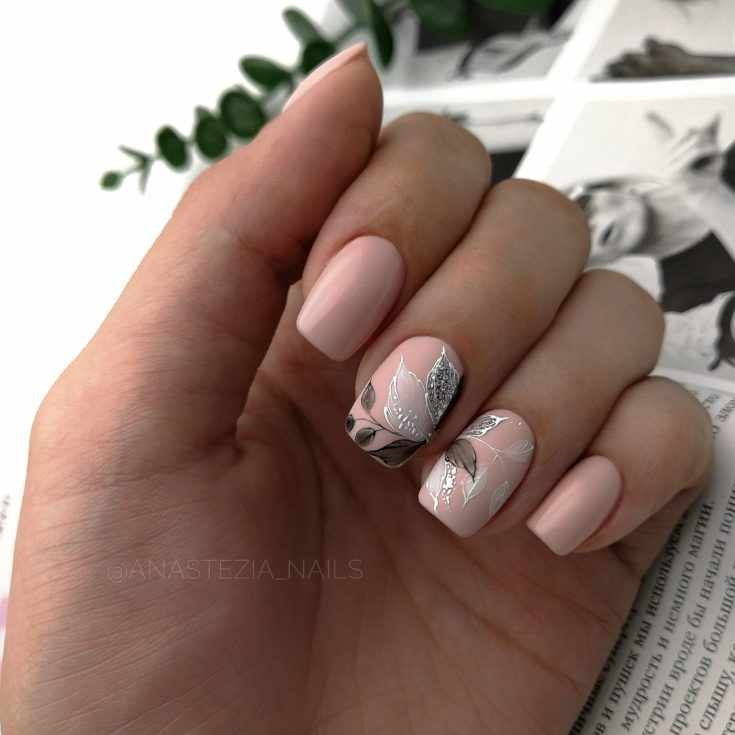Дизайн ногтей на короткие ногти квадратной формы 2020