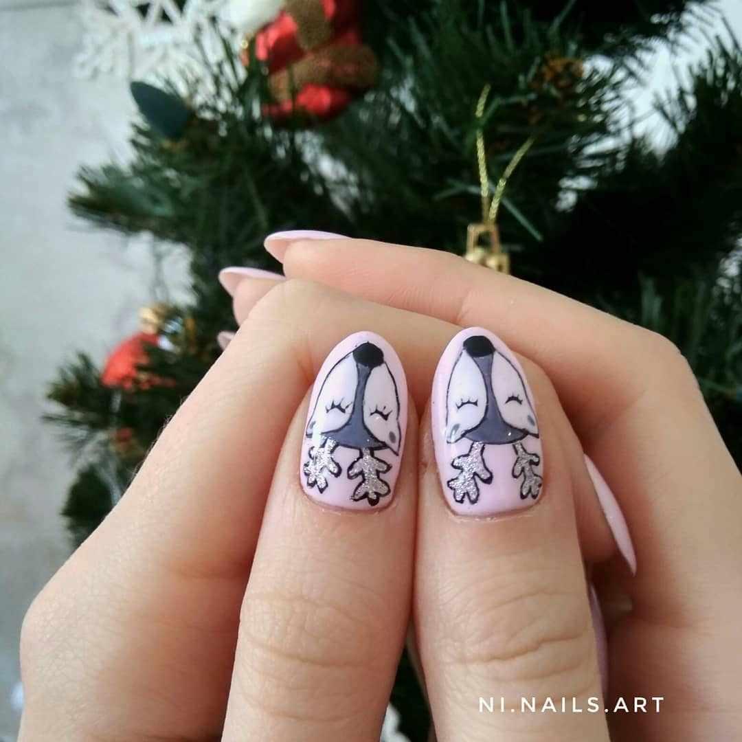 42 фото маникюр на короткие ногти зима 2019